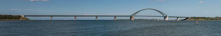 Fehmarnsundbrücke as seen from Großenbroderfähre 20140817 1 - Fehmarn Sound Bridge - Wikipedia, the free encyclopedia