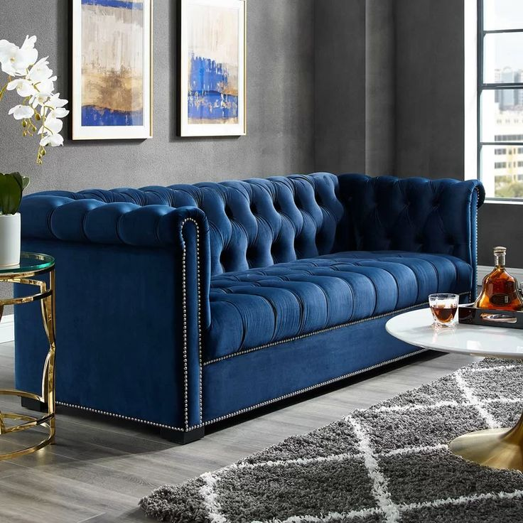 Everly Quinn Newlyn Velvet 86 Rolled Arms Sofa Reviews Wayfair Black Living Room Sofa Design Furniture