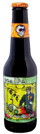 Cerveja Day Of The Dead Doa IPA, estilo India Pale Ale (IPA), produzida por Cervecería Mexicana, México. 6.8% ABV de álcool.