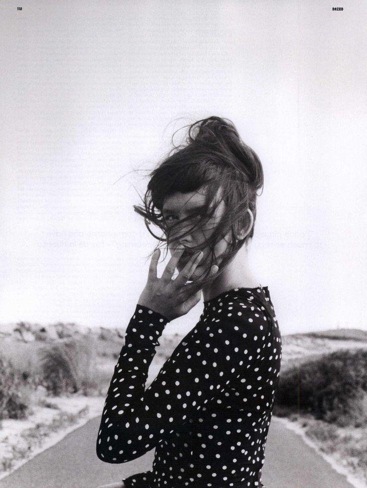 { Polka Dots } #style: Orchard, Dark Hair, White Fashion, Polkadot, Polka Dots Shirts, Cass Birds, Roads Trips, Shorts Bangs, Baby Bangs