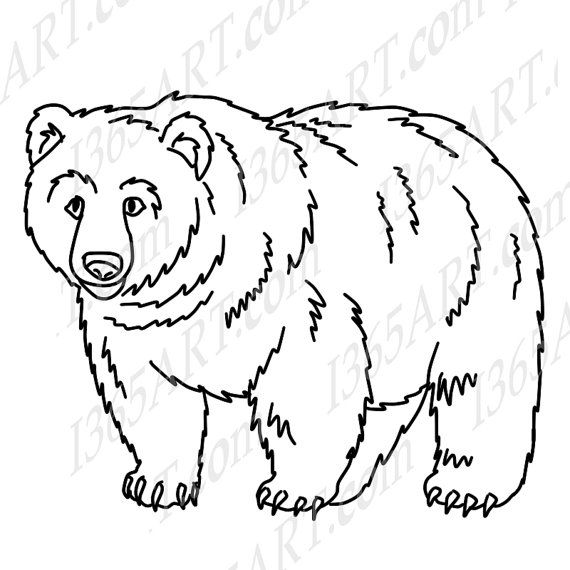 California Grizzly Bear Coloring Page