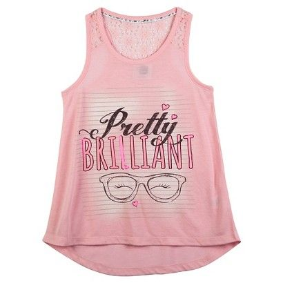 Girls' Project Mc2 Lace Detail Top - Pink