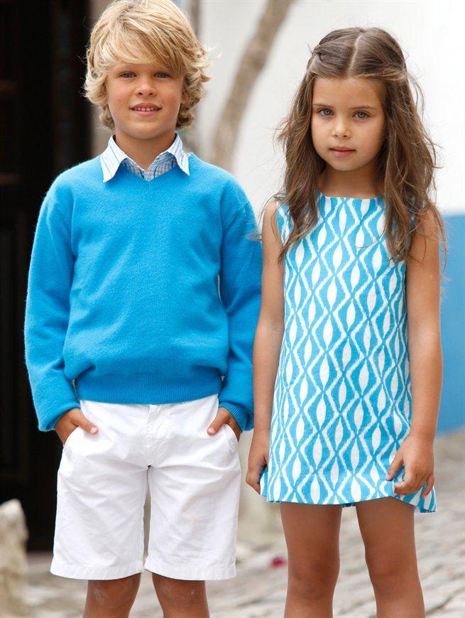 Boy And Girl Bedroom Decor: GIRLS BATIK PRINT A-LINE DRESS, BOYS CHECKED SHIRT