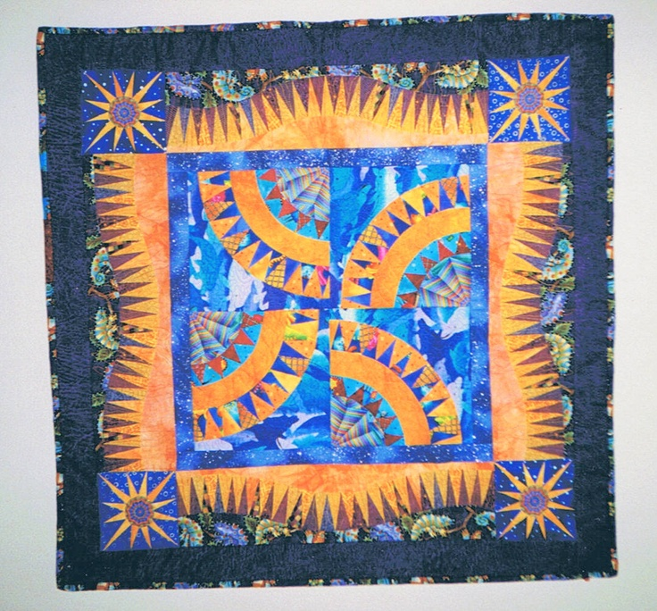 Made in a paper piecing class with Donna Ward.