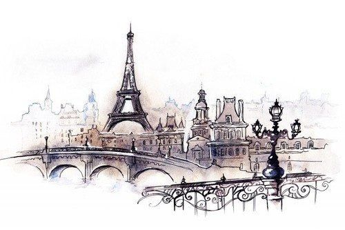 drawing of a Paris scene. source: Organizationally Impaired