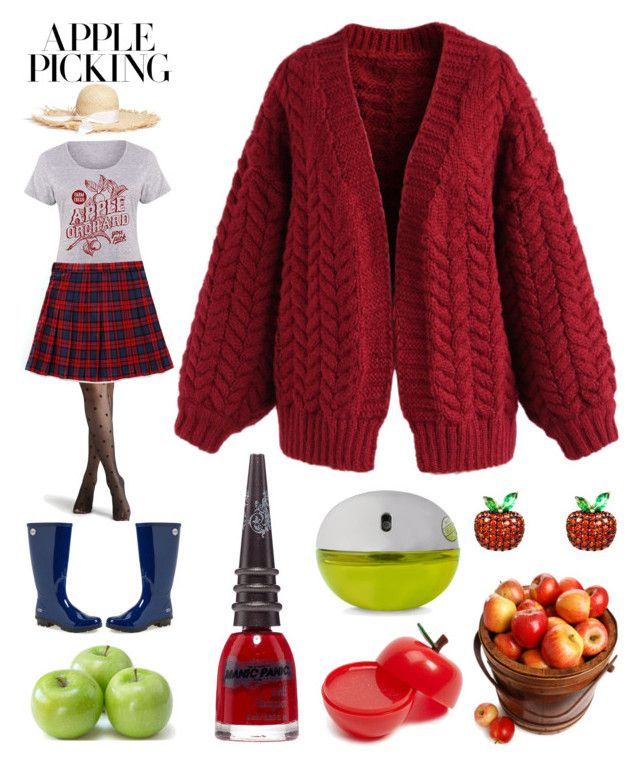 """""""Apple Harvest"""" by creation-gallery ❤ liked on Polyvore featuring LC Trendz, chuu, Gigi Burris Millinery, UGG Australia, Chicwish, Manic Panic NYC, DKNY, Forever 21, Latelita and plus size clothing"""