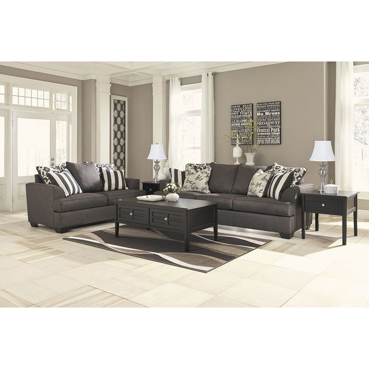 Levon Charcoal Sofa LL 734 S More