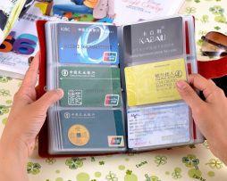 Unisex kožený vizitkár na 90 kariet pre podnikateľov 5