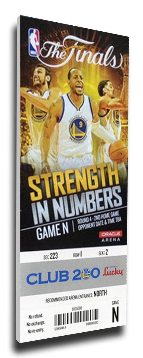 2015 NBA Finals Game 2 Canvas Mega Ticket - Golden State Warriors