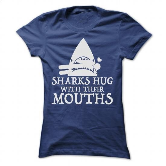 SHARK HUG - #crew neck sweatshirts #silk shirt. SIMILAR ITEMS => https://www.sunfrog.com/LifeStyle/SHARK-HUG-Ladies.html?60505