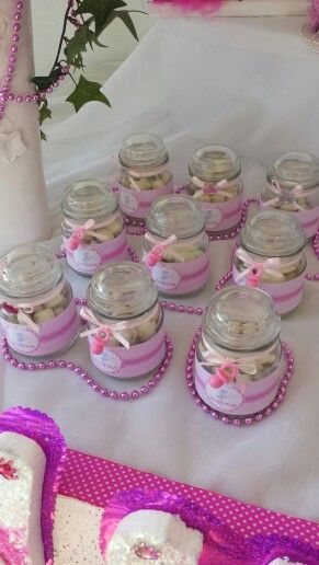 mesa de postres y dulces para baby showers