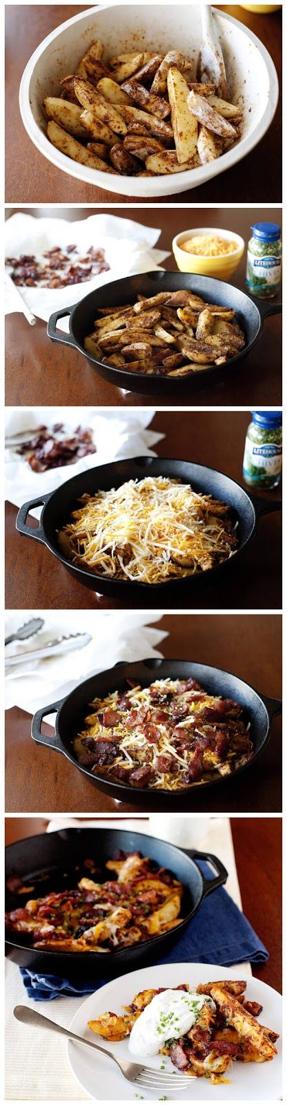 Baked Chili Cheese Fries with Bacon and Ranch