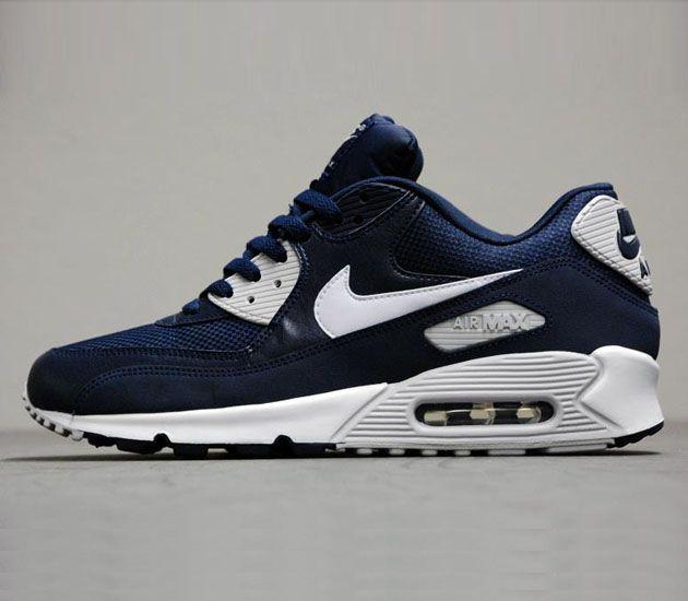 Nike Air Max 90 Essential-Obsidian-White-Neutral Grey #sneakers #kicks
