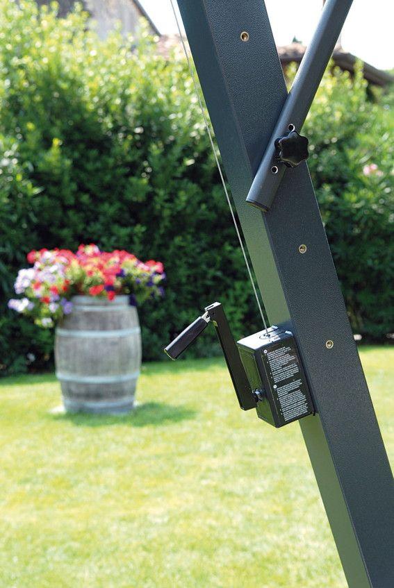 Sonnenschirm SCOLARO Napoli Braccio 3x4 Ampelschirm, Aluminiumschirm  Handkurbelmechanismus Inklusive Kurbelmechanismus   So Können Sie Den