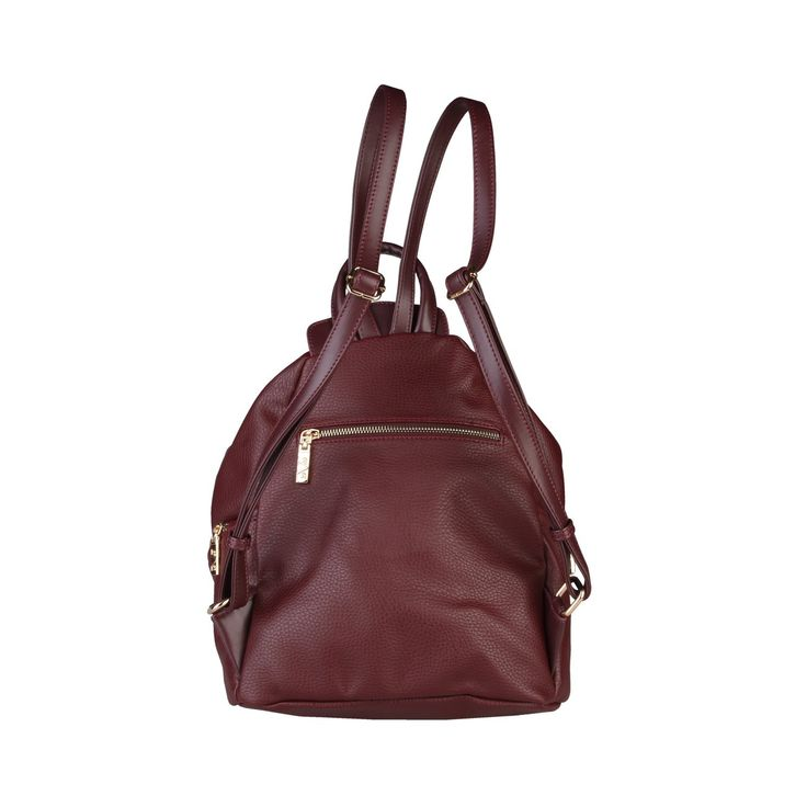Brown eco leather backpack V 1969 - 5VXW84636 - Bags