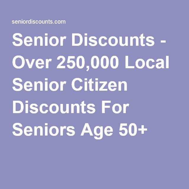 Senior Discounts - Over 250,000 Local Senior Citizen Discounts For Seniors Age 50+