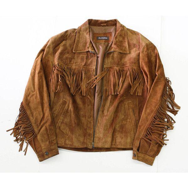 Vintage Fringe Suede Jacket- Brown leather coat-western- Tassel... ($115) ❤ liked on Polyvore featuring outerwear, jackets, fringe, brown suede jacket, brown leather jacket, vintage fringe jacket, suede fringe jackets and suede leather jacket