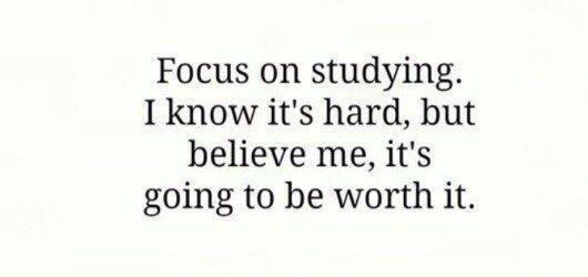 Сосредоточьтесь на изучении. Я знаю, что это трудно, но поверь мне, это того стоит.