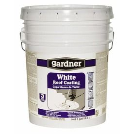 Gardner 5 Gallon Elastomeric Reflective Roof Coatings (3 Year Limited  Warranty)