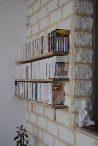 d co des tag res pour livres de poche jolies id es palettes cageots pinterest. Black Bedroom Furniture Sets. Home Design Ideas