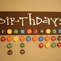 Love this idea an easy way to remember the whole families birthdays: Birthday Reminder, Birthday Charts, Birthday Calendar, Cute Ideas, Birthday Boards, Students Birthday, Great Ideas, Families Birthday, Birthday Ideas