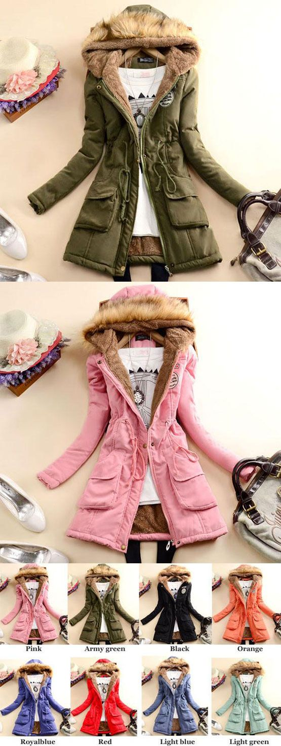 Nice Fashion Slim Wool Hooded Long Winter Cotton Coat for big sale! #coat #winter #slim #wool #fashion #cotton