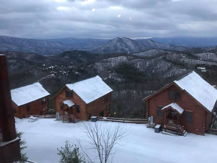 Winter snow often looks like pencil sketch, but it's a real view, from the Preserve resort in the Smoky Mountains