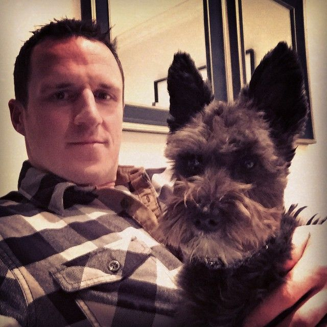 Toronto Maple Leafs: Dion Phaneuf and his dog, Pearl