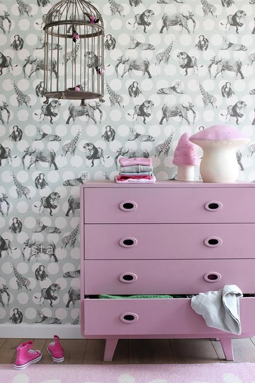 Barnrum I Barntapet I Lejon I Elefant I Tapet I Wallpaper I Kids room inspiration I  Engelska Tapetmagasinet Shop online: www.engelskatapetmagasinet.se