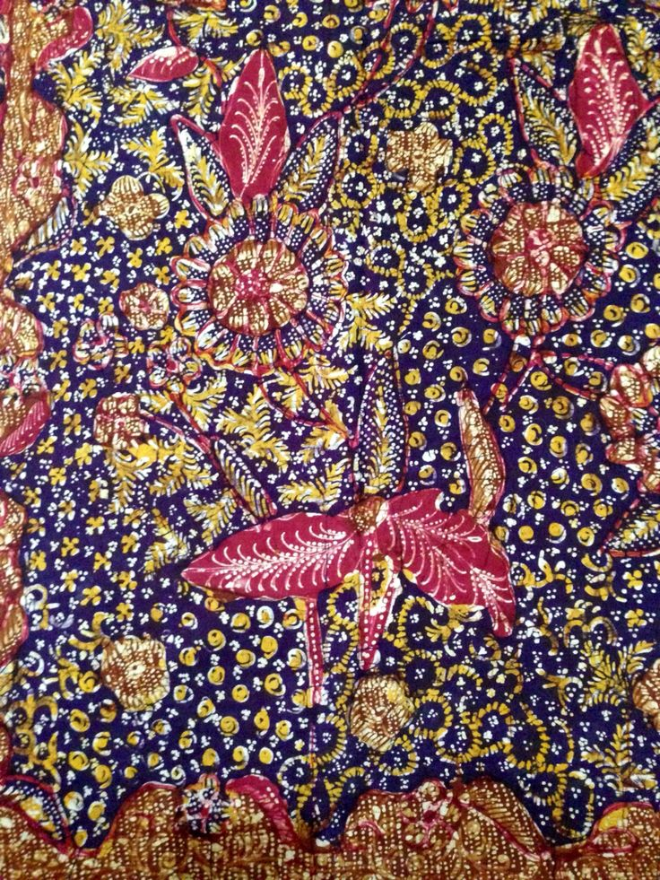 Hand drawn Vintage Batik Lasem. Private collection of Arief Laksono.