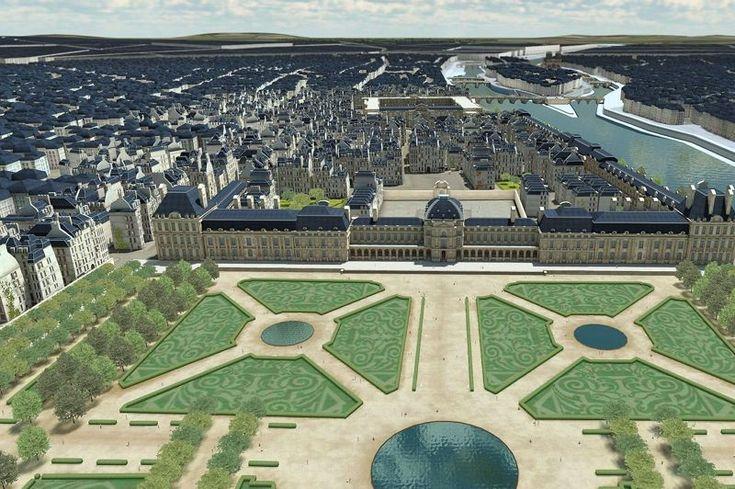 Les agrandissements se poursuivent sous le règne des Bourbons, d'Henri IV à Louis XVI, pour célébrer et affirmer dans la grandeur l'autorité absolue du roi. C'est l'expropriation des quartiers entre le palais du Louvre et celui des Tuileries, la mise en chantier de la Grande Galerie, de la Cour carrée, le prolongement des Tuileries et leur fameux jardin redessiné par Le Nôtre. Une somme de grands desseins achevés sous le règne de Napoléon III de 1852 à 1870 (l'image illustre la physionomie…