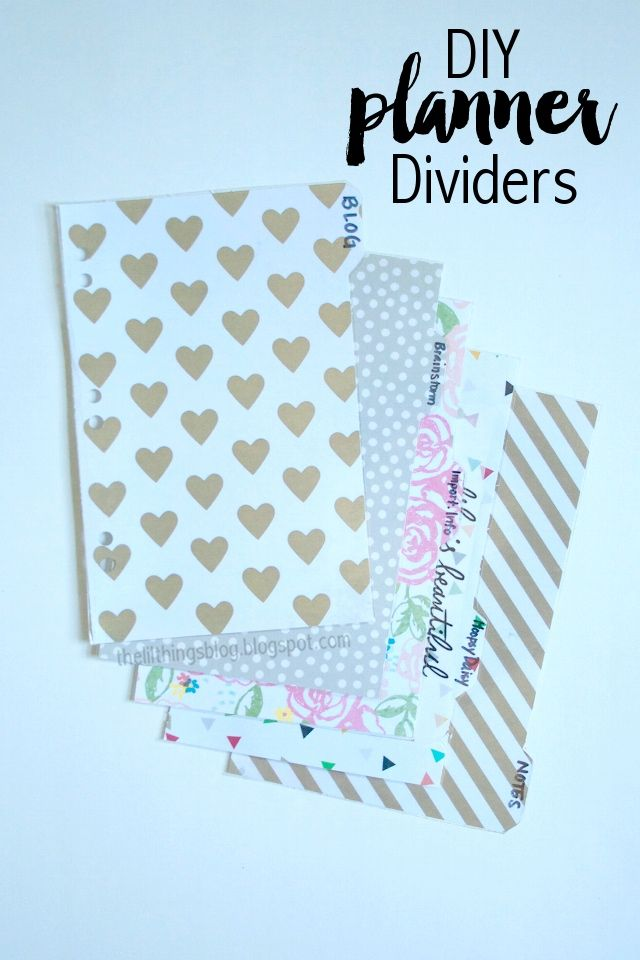 The Little Things: DIY // Planner Dividers
