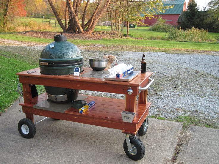 big green egg table - Google Search                                                                                                                                                     Plus