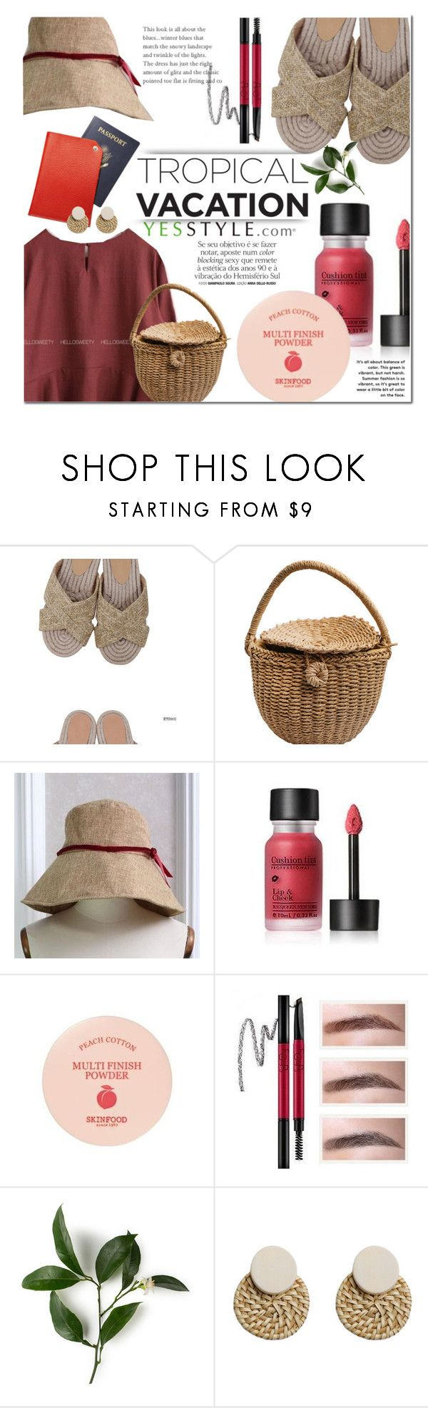 """Summer picnic outfit - YESSTYLE"" by dian-lado ❤ liked on Polyvore featuring Goroke and Skinfood"