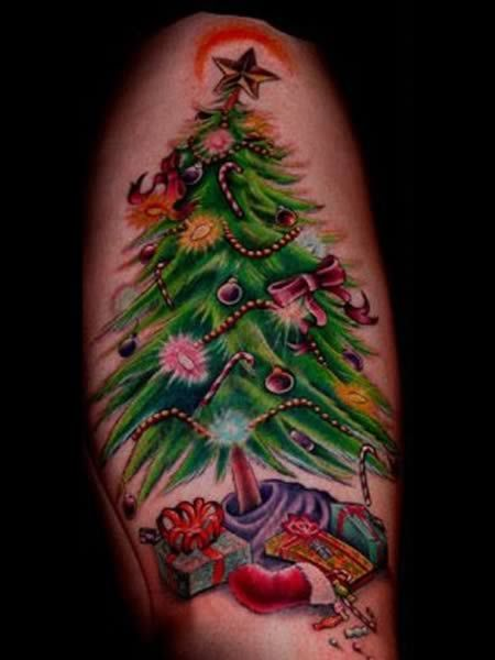They love Christmas so much, they tatooed it on their arm...ok