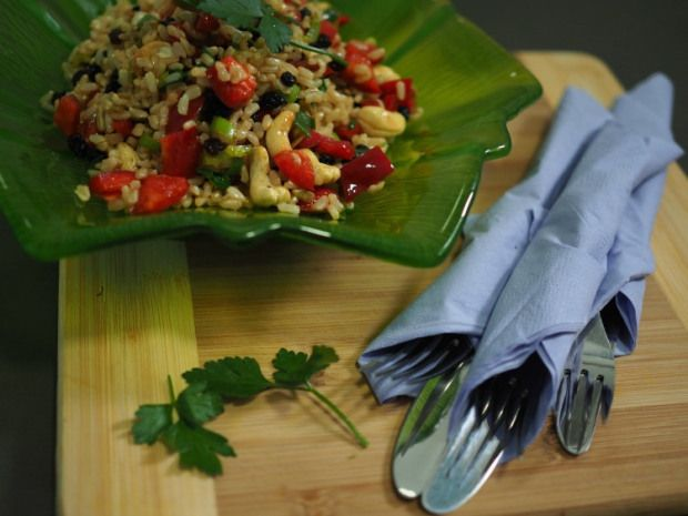 Brown Rice Salad Recipe - Champagne and Chips