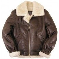 """The B-3 is THE classic WWII sheepskin """"Bomber"""" leather jacket. B-17s and B-24s were not pressurized... and the unheated cabins got awfully cold at altitude! This was the jacket that kept our bomber crews warm during their perilous missions in the skies over Europe. The B-3 jacket is clearly a winner in both warmth and style... even non-aviators like Gen. George Patton chose to wear a specially-modified version of the B-3 (instead of the standard tanker's jacket). The B-3 feature..."""