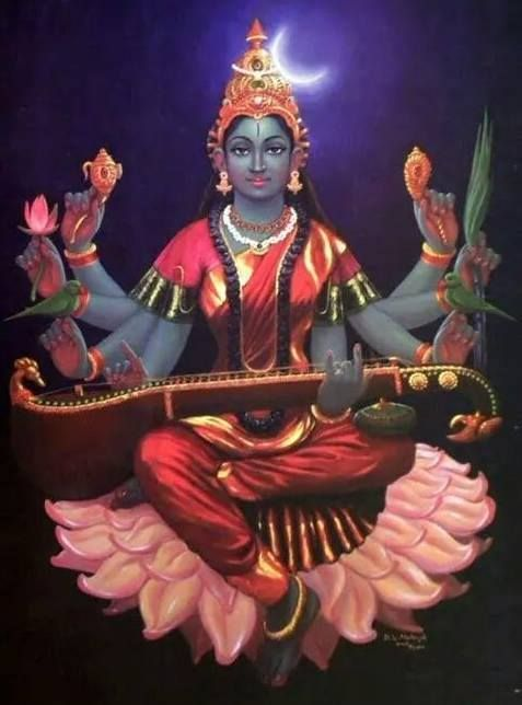 Maa Saraswati Devi Painting