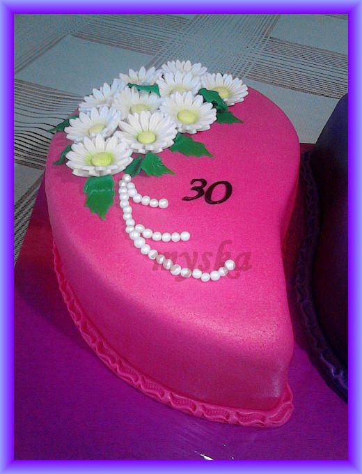 růžová k 30. narozeninám