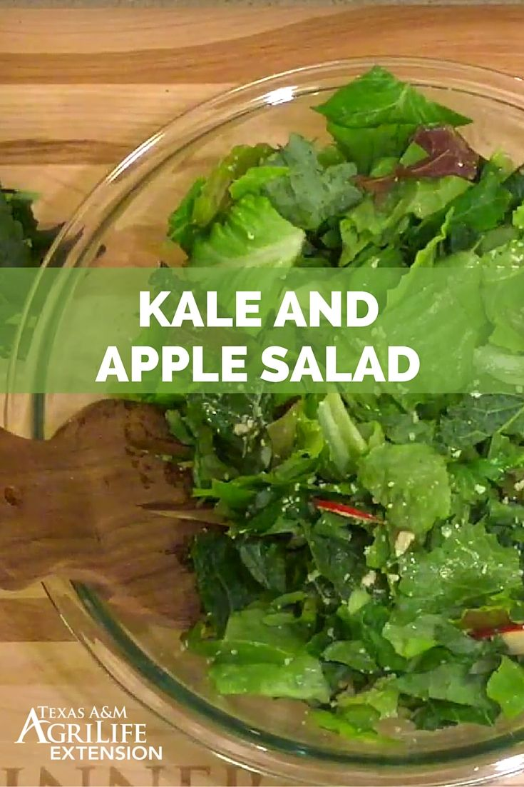"""Kale and Apple Salad"" Video (Source: Texas A&M Agrilife Extension)"