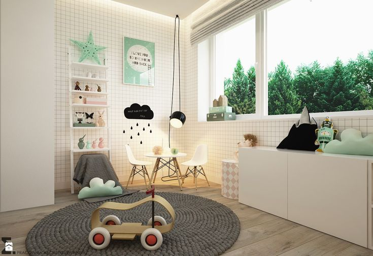 Pokój dziecka styl Skandynawski - zdjęcie od ELEMENTY - Pracownia Architektury Wnętrz - Pokój dziecka - Styl Skandynawski - ELEMENTY - Pracownia Architektury Wnętrz