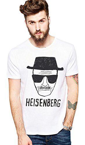 Kim Fit Fab Mens Breaking Bad Heisenberg Walter White T-Shirt Medium White @ niftywarehouse.com #NiftyWarehouse #Nerd #Geek #Entertainment #TV #Products