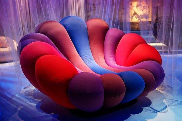 un fauteuil king-size coloré pour pimenter votre salon ou une grande chambre ? Le fauteuil