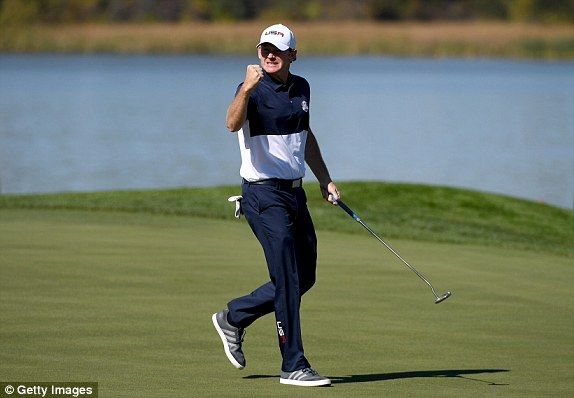 Brandt Snedeker is on the up against Andy Sullivan   Read more: http://www.dailymail.co.uk/sport/golf/article-3817746/Ryder-Cup-2016-LIVE-team-scores-golf-results-Team-USA-vs-Team-Europe.html#ixzz4M0KL4YU7  Follow us: @MailOnline on Twitter | DailyMail on Facebook