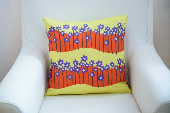 Scandinavian inspired pillow cover with flowers by TroskoDesign on Etsy: https://www.etsy.com/listing/227352062/scandinavian-inspired-pillow-cover-with?ref=shop_home_active_3