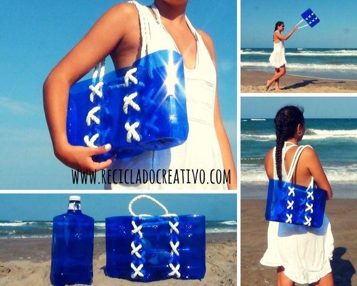 Cómo hacer un capazo marinero con garrafas de plástico