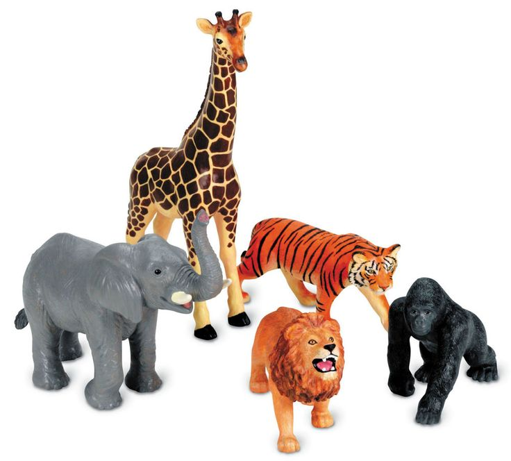 Jumbo Jungle Animals - ideal for imaginative play. The jungle animals are realistically detailed. This set supports early science lessons about animals and their habitat. Durable plastic creatures are perfectly sized for little hands. | eBay!