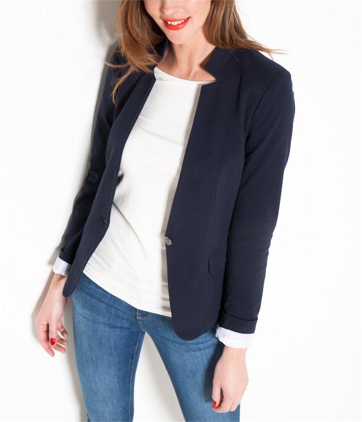 vente veste de blazer femme gris chine t36 veste camaieu egayez vos tenues avec cette petite. Black Bedroom Furniture Sets. Home Design Ideas