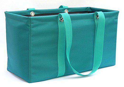 "MDM Large Utility Tote Bag, Organizer, Laundry Bag ""Teal & Green"""