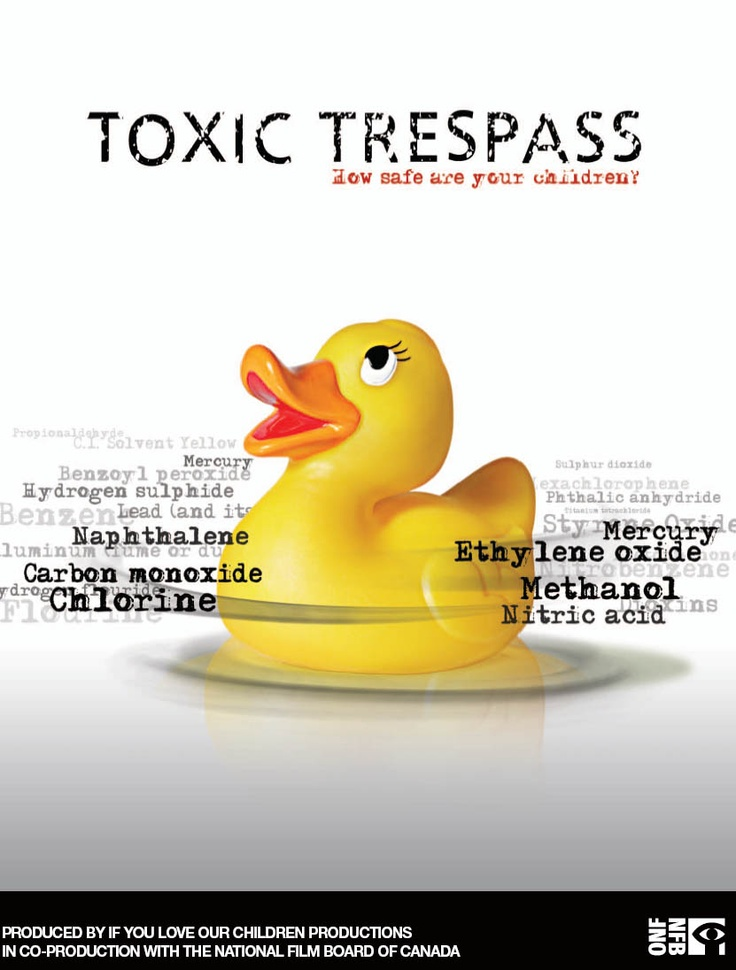 """Toxic Trespass: how safe are your children? - Barri Cohen 2008 - DVD02056 -- """"Intrepid filmmaker Cohen launches an investigation into the effects of industrial chemicals around us. She starts with her own daughter, who-like most children today-carries a cocktail of carcinogens in her blood. Meet passionate activists, doctors & scientists who see clear evidence of often-denied links between the environment & health."""" Image: inspiredpractice.wordpress.com"""